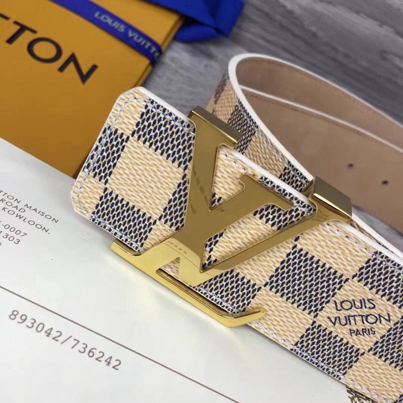 Cinto LV Initiales Damier Azur 4cm - Loja Must Have