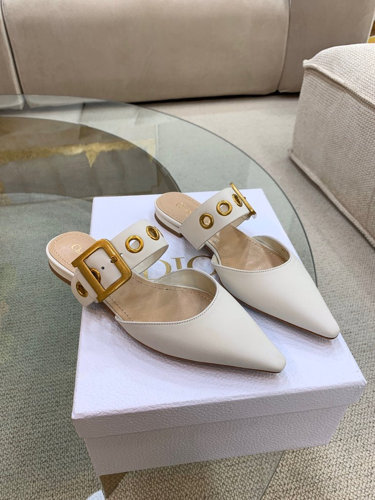 Mule D Dior Technical Couro