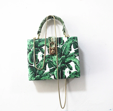 Bolsa Dolce&Gabbana Inspired Box Banana Leaf