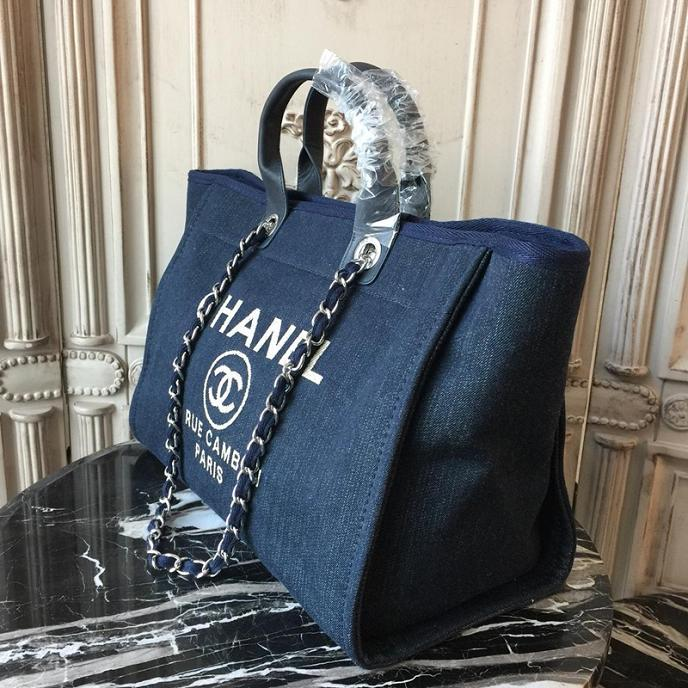Bolsa Chanel Deauville Denim Praia Cruise 2018 Chanel - Loja Must Have
