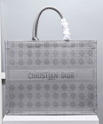 Bolsa Book Tote Praia Bordada Christian Dior Cannage