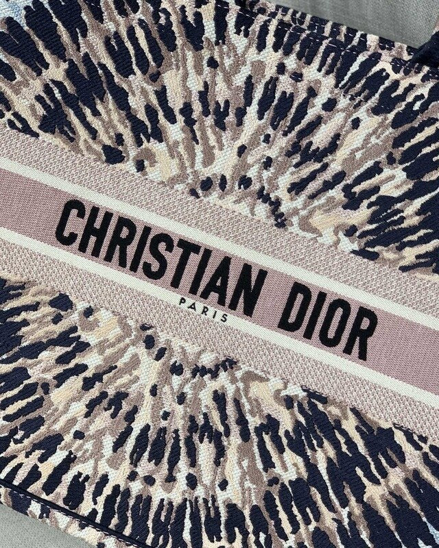 Bolsa Christian Dior Multicolor Tie Book Tote Bordada