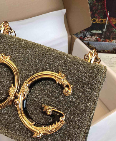 Bolsa Girls Baroque Logo Gold Dolce&Gabbana
