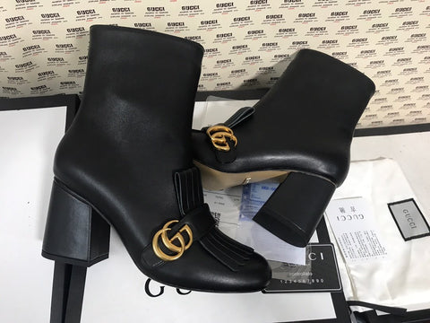 Bota Franjas Double G ankle boot Gucci