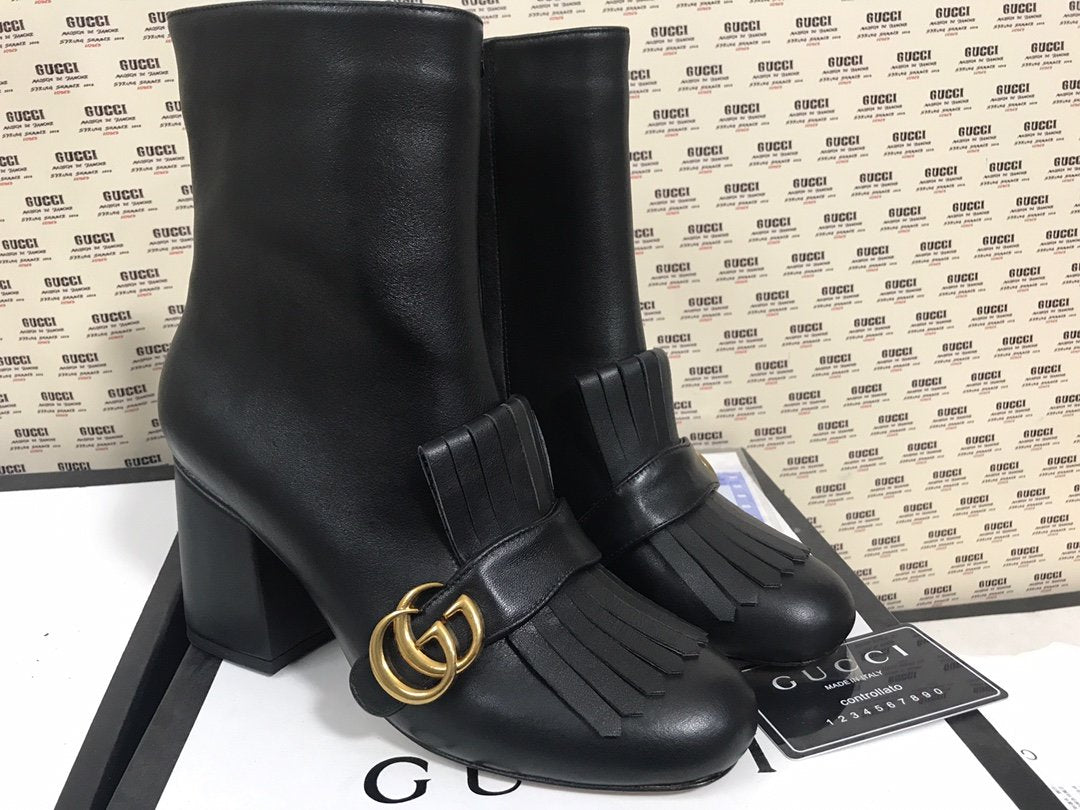 Bota Franjas Double G ankle boot Gucci - Loja Must Have