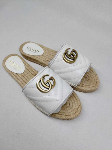Mule Espadrille Rasteira Gucci Double G Marmont