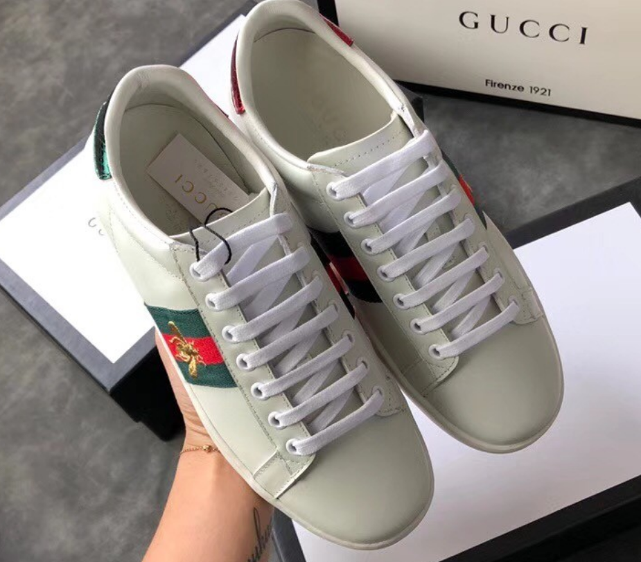 Tênis Gucci Ace Bordado Abelha Leather Sneaker - Loja Must Have