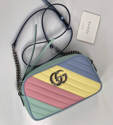 Bolsa Gucci GG Marmont 2.0 Pastel Multicolor Shoulder Bag