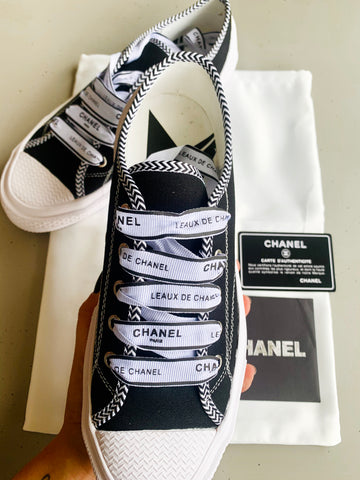Tênis Chanel Converse All Star 36 BR