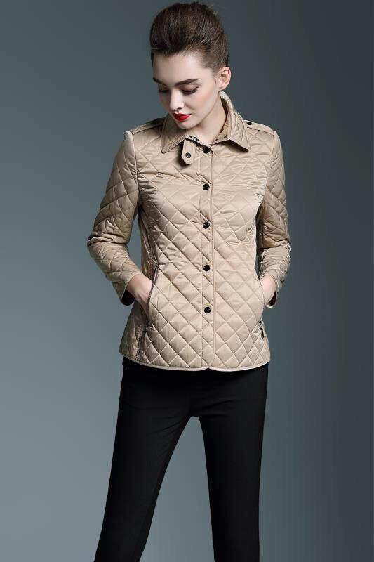 Jaqueta Burberry Diamond-Quilted - Loja Must Have