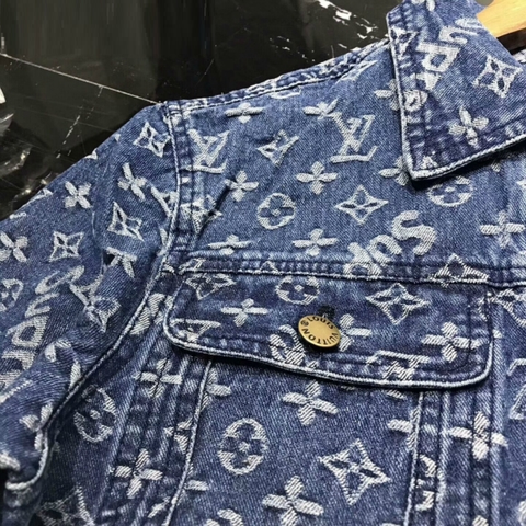Jaqueta Jeans Supreme Louis Vuitton