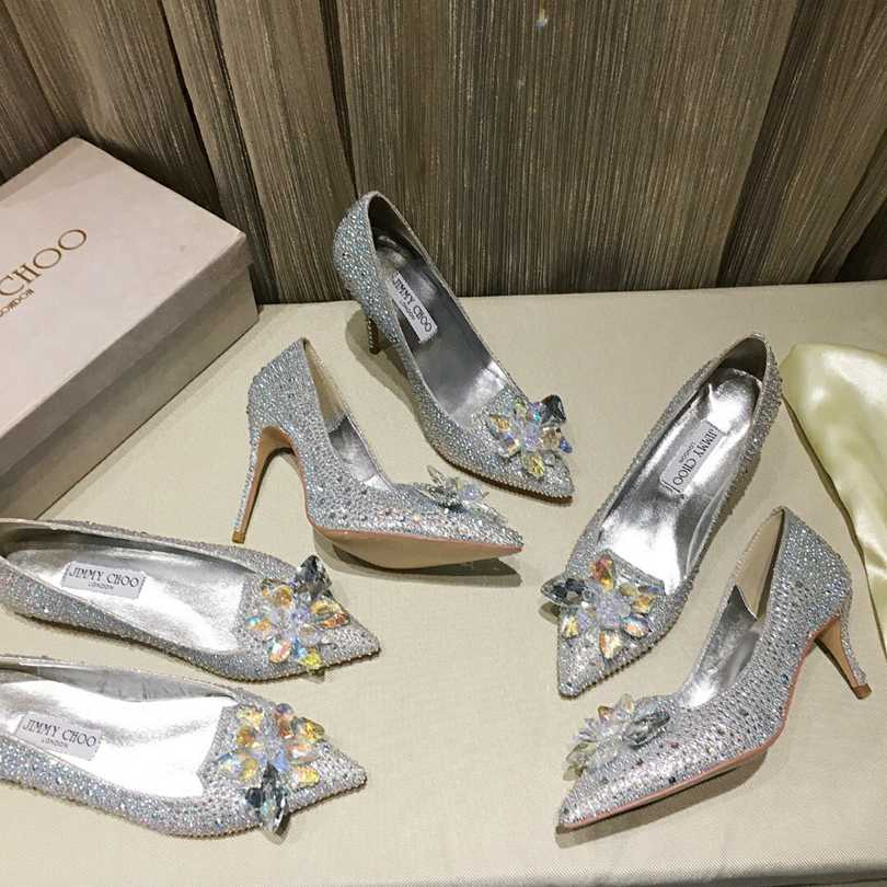 Scarpin Jimmy Choo Cristais Cinderella Collection - Loja Must Have