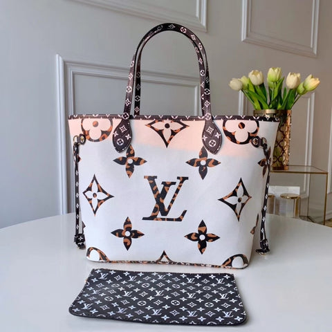 Bolsa Jungle Monogram Giant Neverfull MM Louis Vuitton