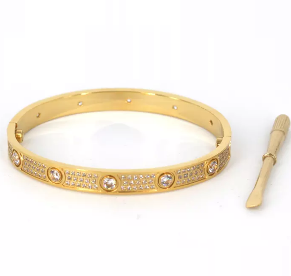 Bracelete Love com Pavé Cartier - Loja Must Have