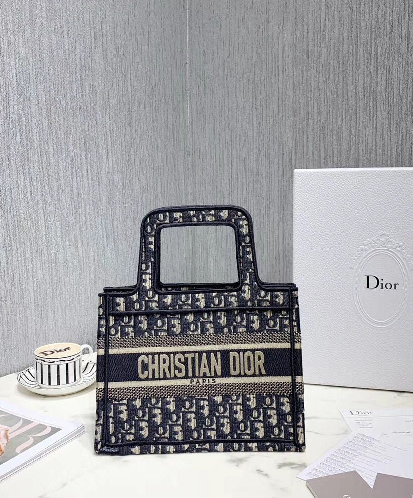 Bolsa Christian Dior Mini Book Tote Oblique