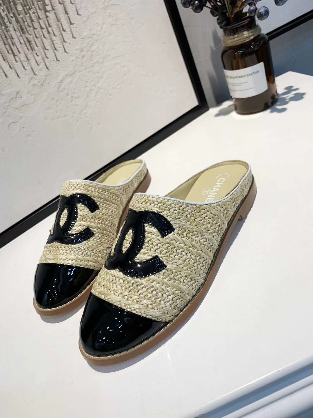 Mule Chanel Palha - Loja Must Have