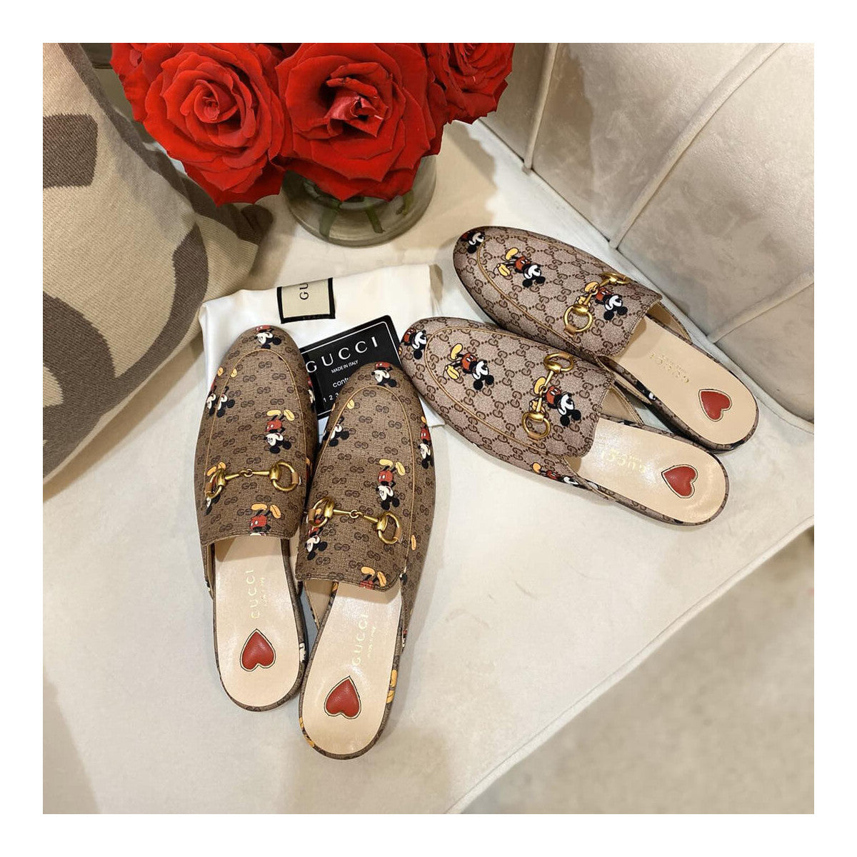 Mule Slipper Gucci Princetown Disney Mickey