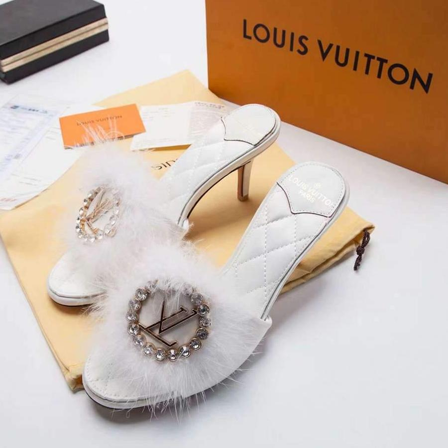 Mule Marilyn Louis Vuitton LV Plumas - Loja Must Have