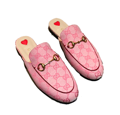 Mule Slipper Gucci Princetown canvas Monogram - Loja Must Have