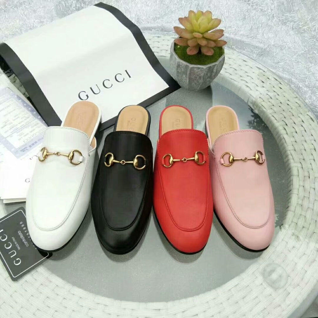Mule Slipper Gucci Princetown couro - Loja Must Have