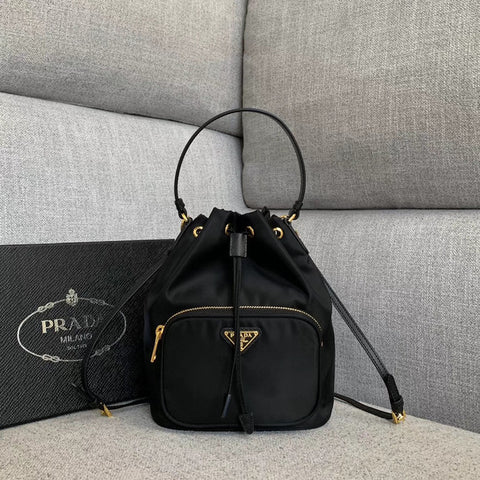 Bolsa Prada Vela Nylon Bucket Bag