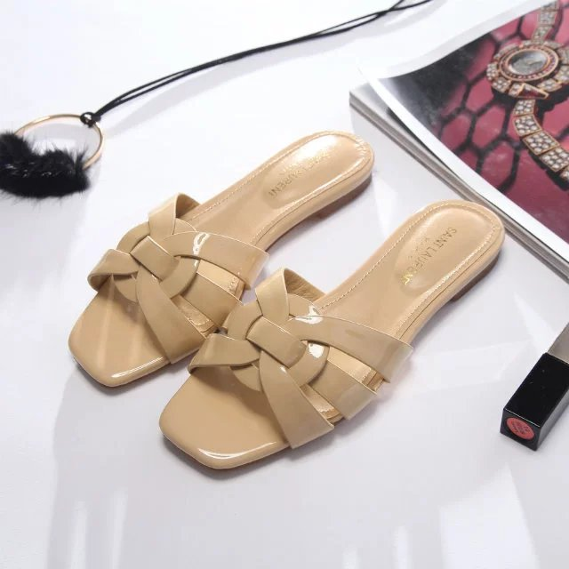 Rasteira Nu Pieds Strappy Yves Saint Laurent YSL - Loja Must Have