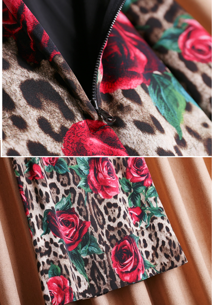 Saia Animal Print e Rosas Dolce&Gabbana Inspired - Loja Must Have