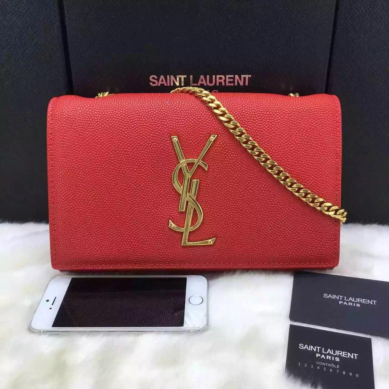Bolsa Satchel Powder Kate YSL Saint Laurent - Loja Must Have