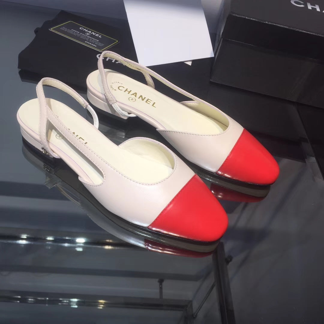 Sapatilha Chanel Slingback Bicolor - Loja Must Have