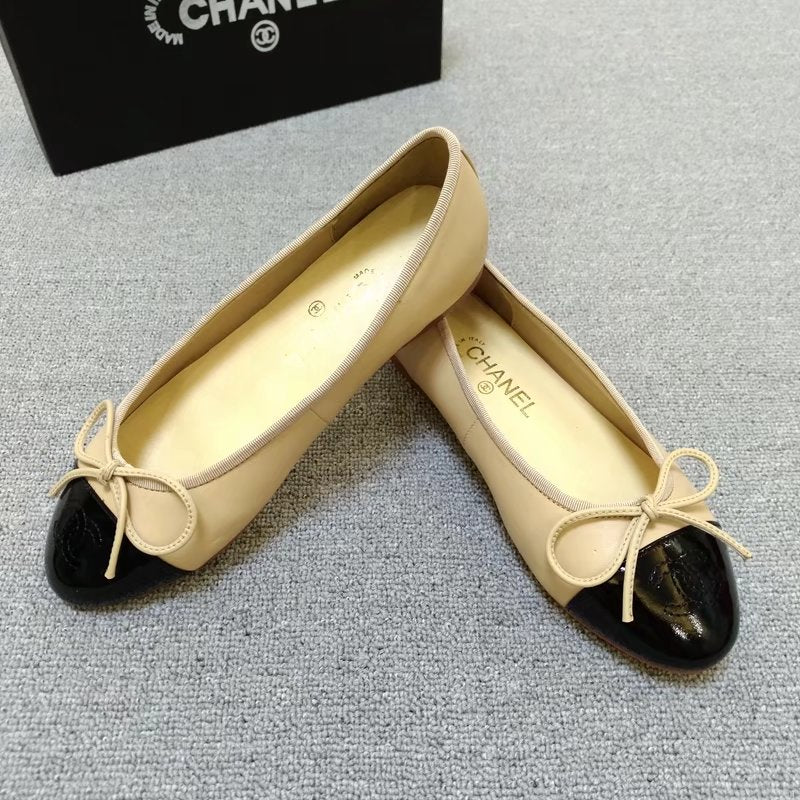 Sapatilha Ballerina Flats Patent Toe Chanel - Loja Must Have
