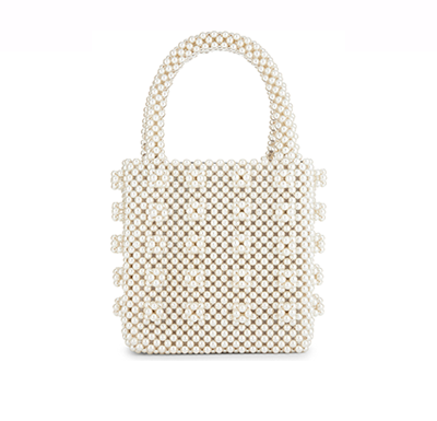 Bolsa Shrimps Antonia Pérolas Bordadas Inspired - Loja Must Have