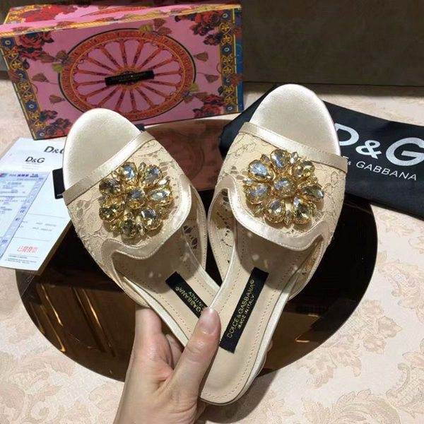 Slipper Renda e Cristais Dolce & Gabbana - Loja Must Have