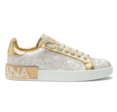 Tênis Sneaker Portofino Dolce&Gabbana In Mother-of-pearl