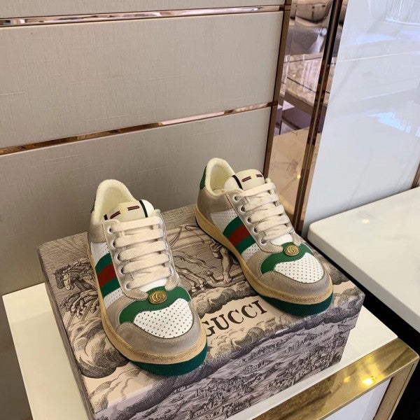 Sneaker Gucci Screener White Perforated