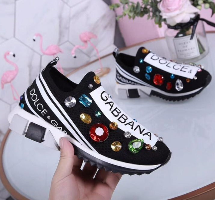 Tênis Dolce&Gabbana Sorrento Embroidery Multicolor Pedras Sneaker - Loja Must Have