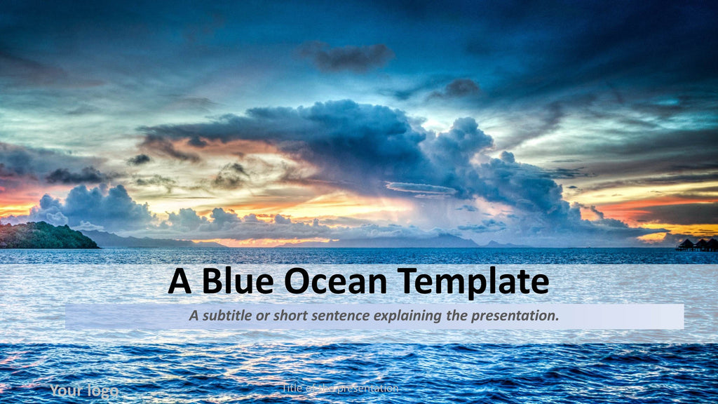 business blue ocean thematic template presentationsquare