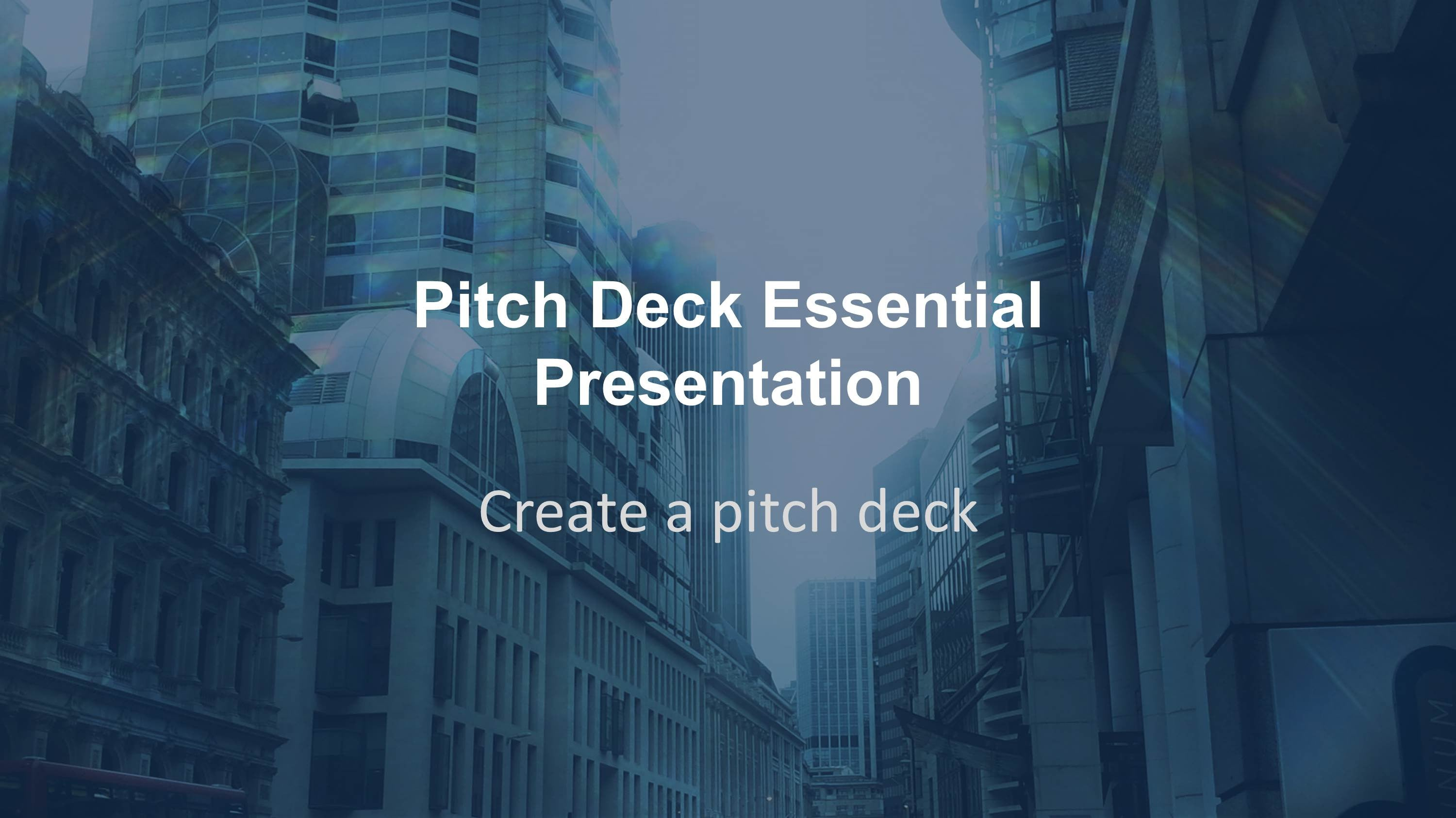 An Essential Pitch Deck PowerPoint Template   presentationsquare
