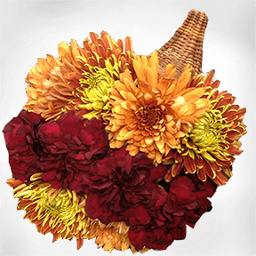 Holiday Floral Cornucopia Centerpiece Guide