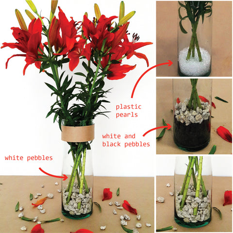 DIY flower arrangment, centerpiece, under $20, asiatic lilies