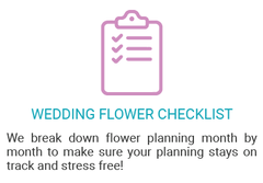 the ultimate wedding flower checklist bloomingmore