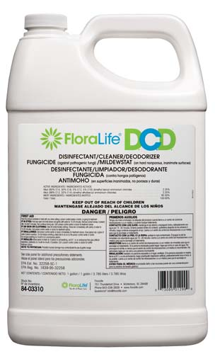 D.C.D. CLEANER,1 gallon US label