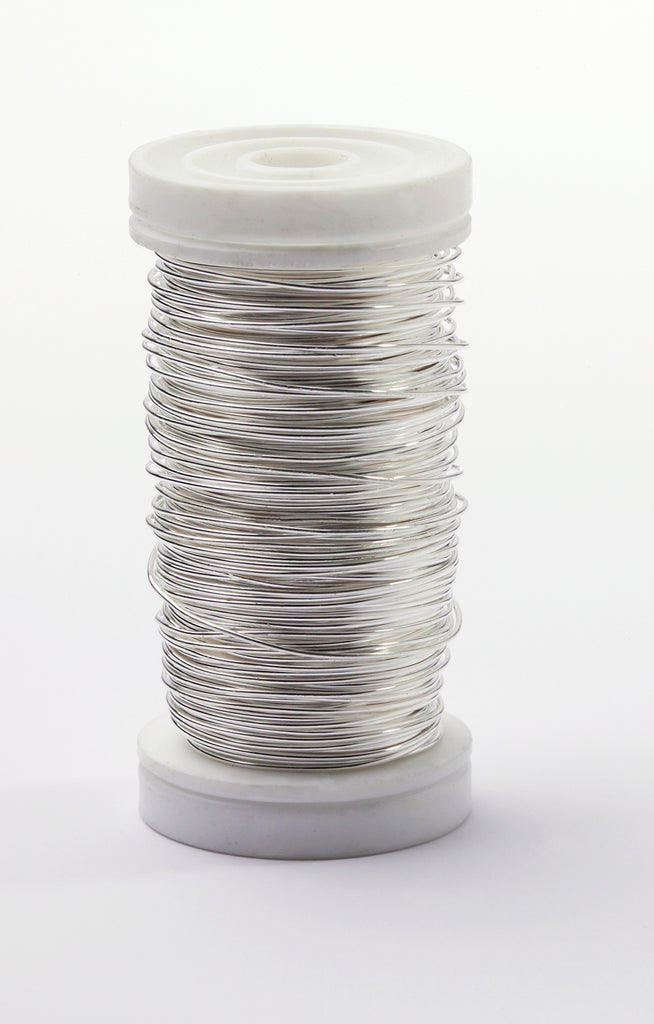 OASIS™ Metallic Wire, Silver 1 Roll