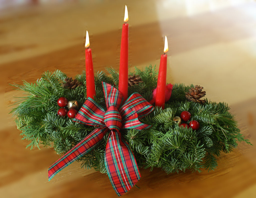 Highland 3 Candle Centerpiece