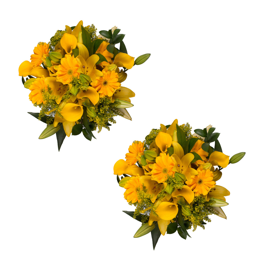 Golden Bloom Bouquet - 27 Stems - 2 Pack