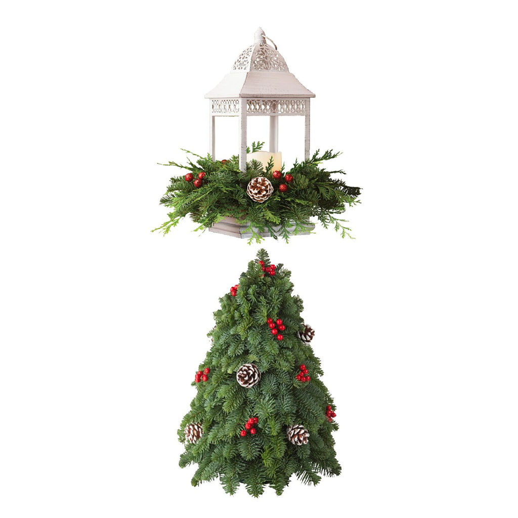 LED Candle Lantern Centerpiece / Christmas Tree Centerpiece