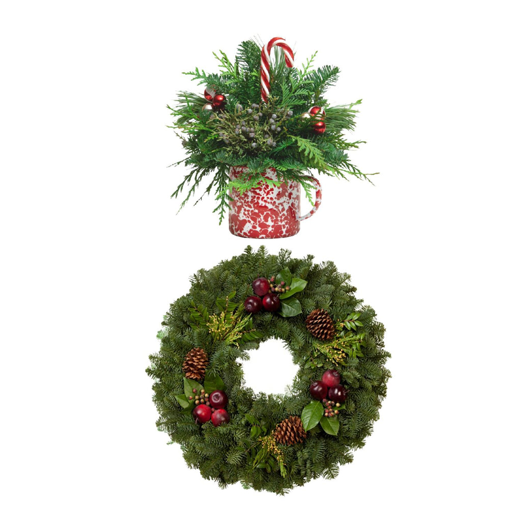 "Countryside Wreath 24"" / Cup of Cheer"