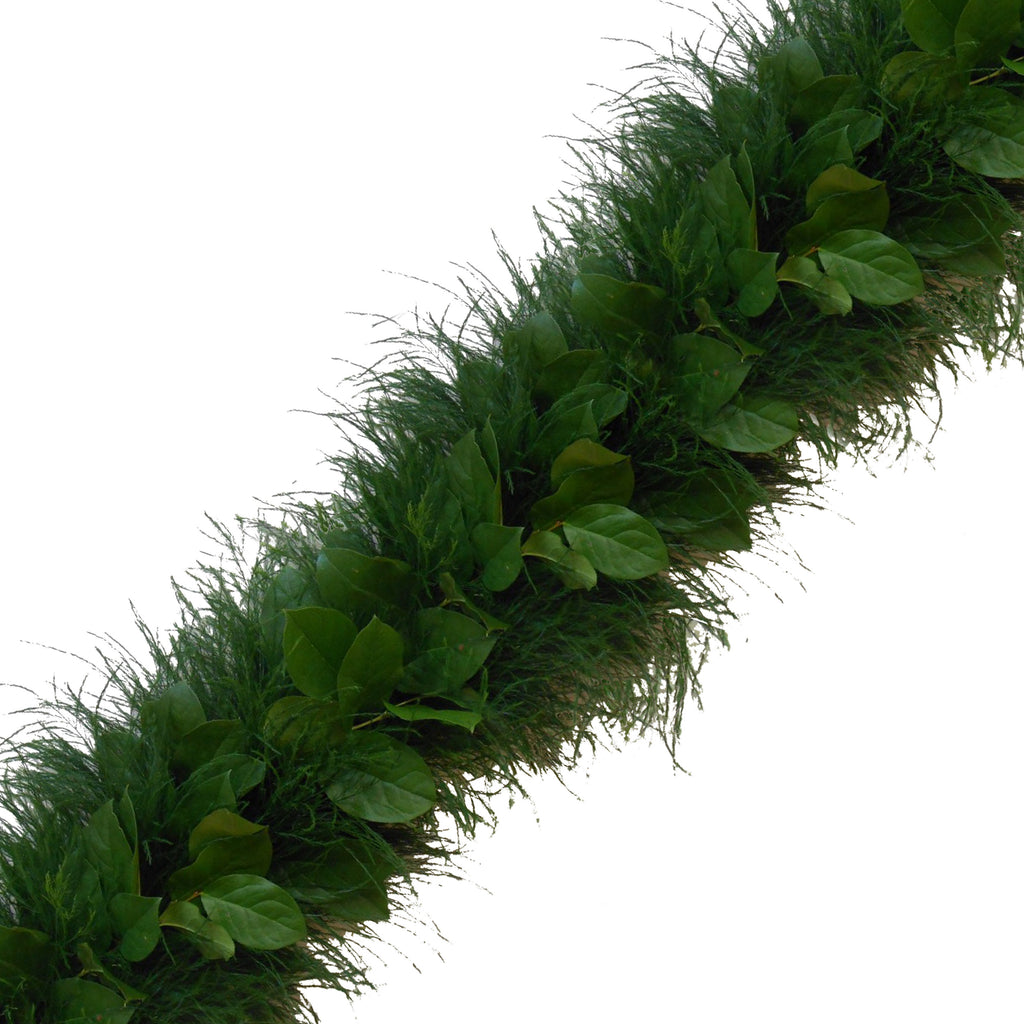 Fresh Handmade Garland - Tree Fern & Salal