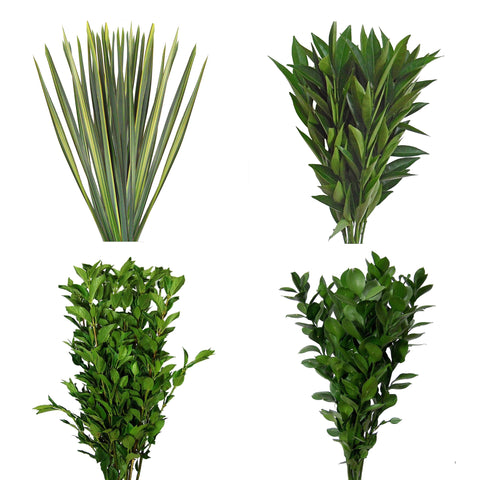 Natural Varigated Green Flax