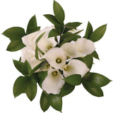 Pure Elegance White Mini Calla Bouquet - 4 Pack