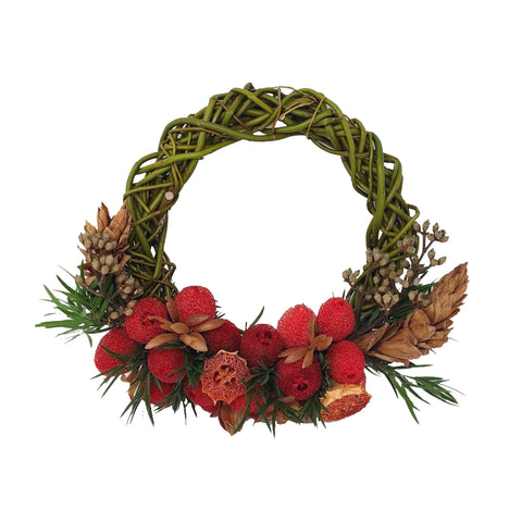 Golden Berry Wreath